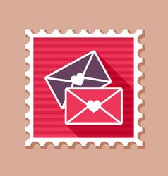 Two envelope stamp love letter vector
