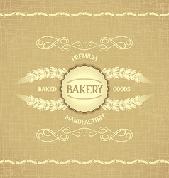 Vintage design for decoration bakery vector