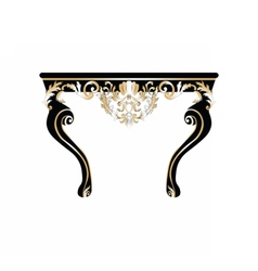 Vintage Rich Baroque Table vector image