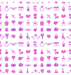 wedding outline icons seamless pattern background vector image
