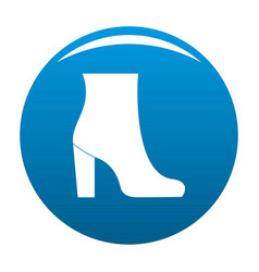 Woman shoes icon blue vector