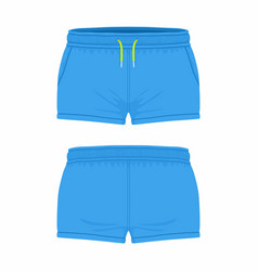 Womens blue sport shorts vector