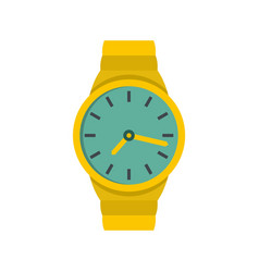 Wristwatch man icon flat style vector
