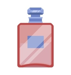 Bottle of french perfume icon in cartoon style vector image