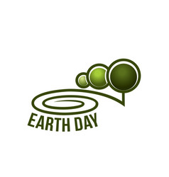 Earth day nature ecology forest trees icon vector