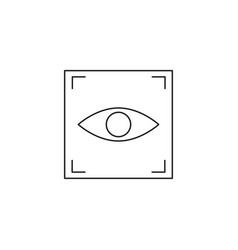 eye scan icon vector image