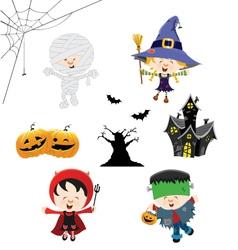 Halloween Kid Set vector image vector image