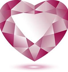 Heart Shape gem vector image vector image