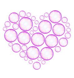 soap bubbles heart vector image vector image