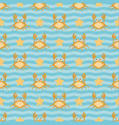 crabs and stars vector image vector image