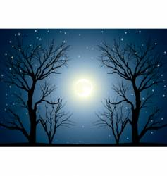 moon trees vector image