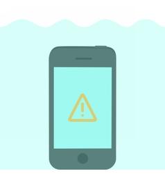 Phone in water vector