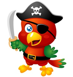 Pirate bird vector image vector image