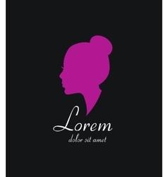 Woman silhouette logo icon Beauty salon vector image vector image