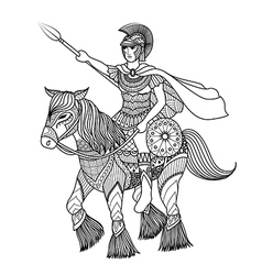 Zentangle stylized of knight vector image