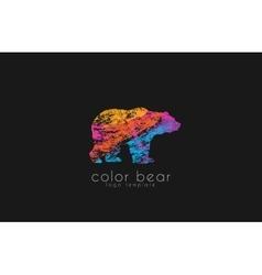 Bear logo Creative animal logo Colorful logo vector image
