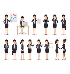 businesswoman people characters vector image vector image