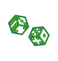 dices sign lemon scribble icon on white vector image