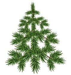 Green Christmas Tree Fluffy fir Green pine tree vector image vector image