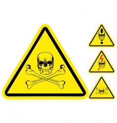 sign on danger vector image vector image