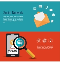 social network media infographic banner vector image