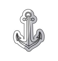 sticker sketch contour anchor icon design vector image