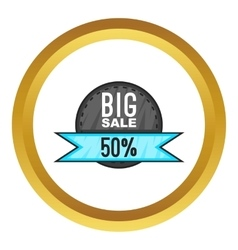 Super sale with 50 discount icon vector image