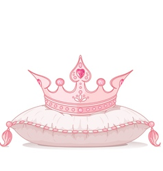 Crown on the pillow vector image