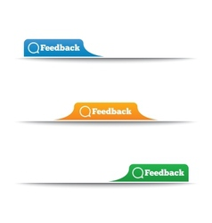 Feedback labels feedback tags on the page vector