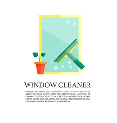 Flat windows cleaner concept vector image vector image