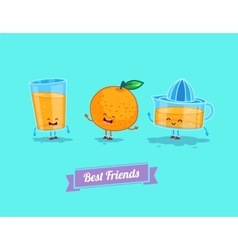 funny cartoon Funny glass orange and vector image vector image