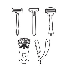 Set of razors - disposable open blade electric vector