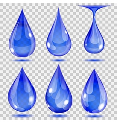 Set of transparent drops vector image vector image