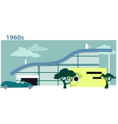 1960s house vector