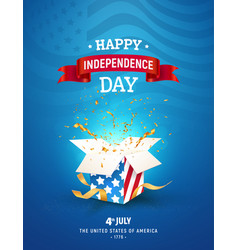 4th july independence day celebration the vector image