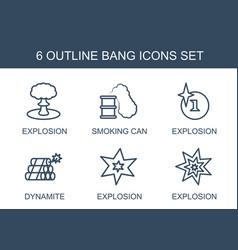 6 bang icons vector