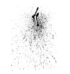 Abstract ink splatter for Your grunge vector image vector image