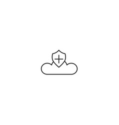 add security cloud icon vector image