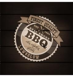 Barbecue BBQ grill logo stamp retro poster vector
