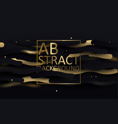 Black and gold luxury background abstract wavy vector