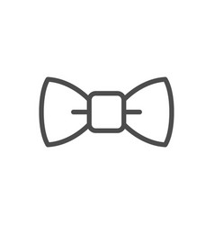 bow tie line icon vector image