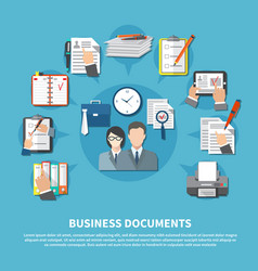 business items flyer vector image