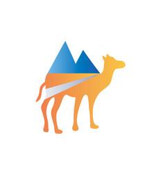 camel adventure logo vector image