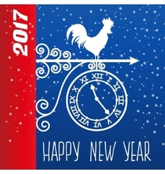 card new year rooster vector image