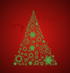Christmas cardChristmas tree with the inscription vector image