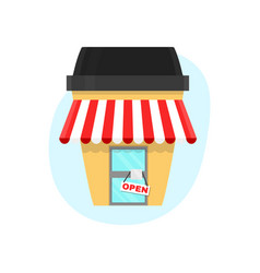 coffee shop in a paper cup of coffee vector image
