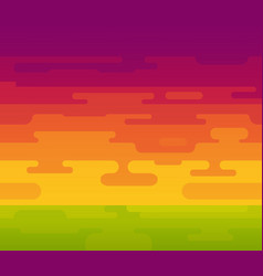 colorful background of sunset with hot vector image