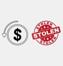 Contour undo payment icon and distress vector