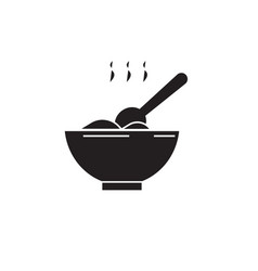 cooking meal black concept icon cooking vector image