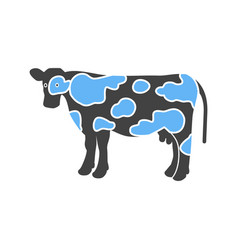 Cow dairy milk vector
